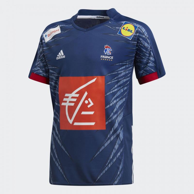 fa16077c96efd Maillot équipe de France de handball adidas bleu junior