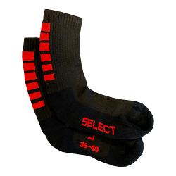 Chaussettes Select Sports noires/rouges