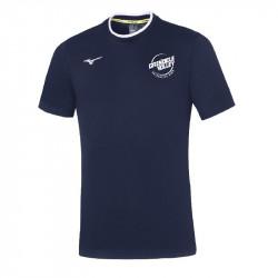 Tee-shirt Mizuno bleu GVUC